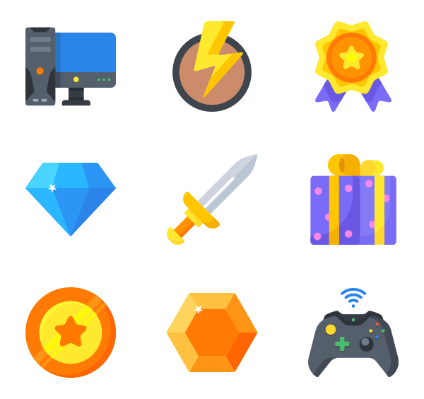 600x564 Game Controller Icons