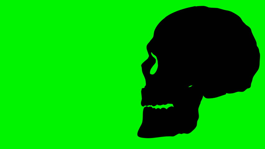852x480 Man Plays Video Game Is Silhouette Green Screen