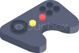 320x217 Video Game And Joystick Icons Set Stock Vector Colourbox