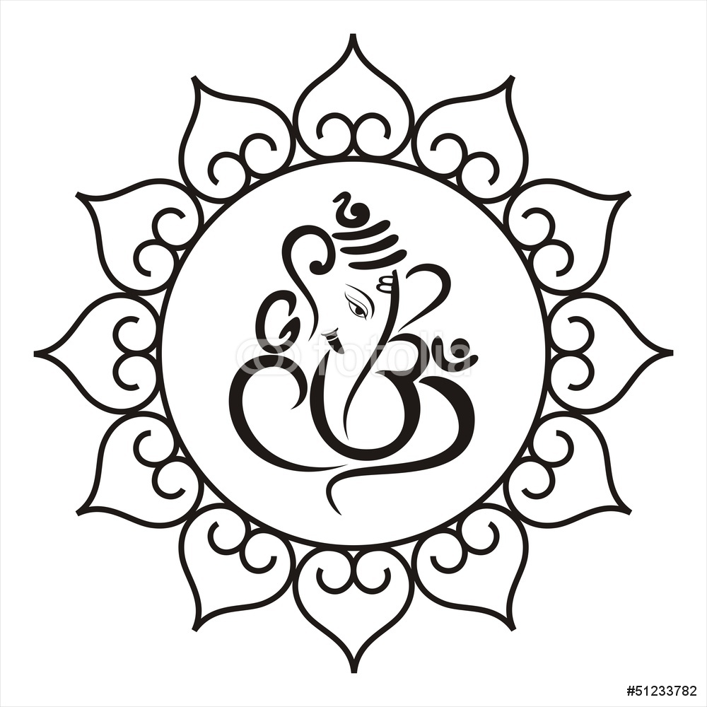 1000x1000 Ganesha Hindu Wedding Card Royal Rajasthan India Wall Sticker