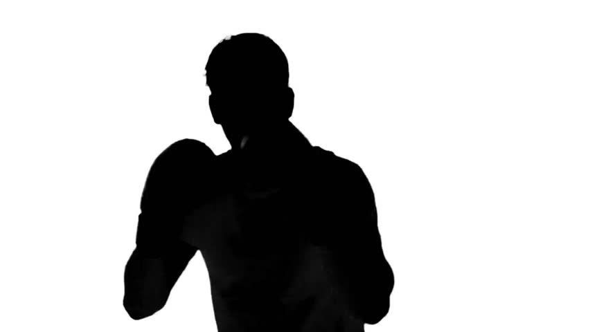 852x480 Silhouette Of A Man With A Gun Walking And Aiming Down The Sights