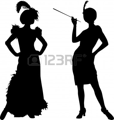 Gangster Girl Silhouette