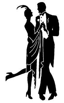 218x350 Roaring 20s Silhouettes Clip Art Clipart It's A Party