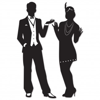 324x324 Gangster 20's Silhouettes Cutout Decorations (Set Of 2) 20'S