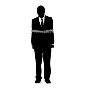 281x300 Gangster Prisoner Silhouette Standee Theme Party Decor 1920'S