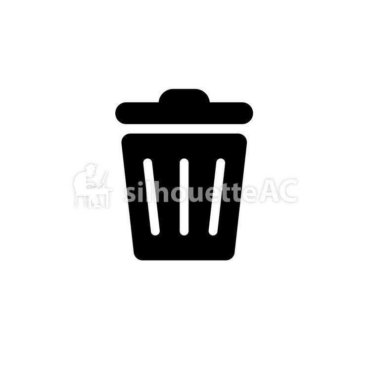 750x750 Free Silhouettes Garbage Can, Trash Can