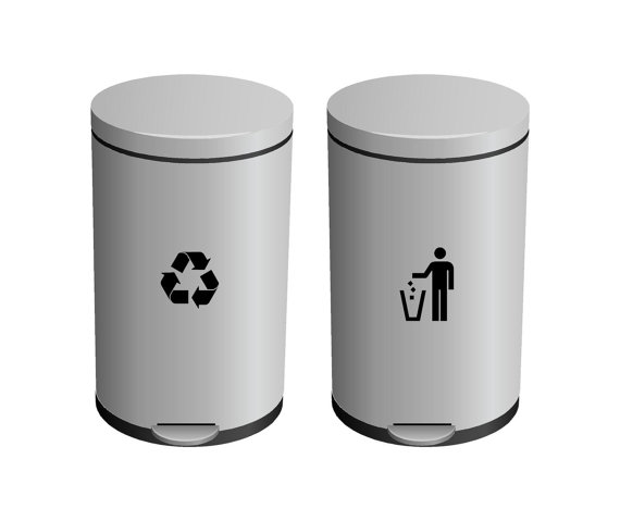 570x479 Recycle And Trash Garbage Can Label Vinyl Lettering Wall Decal