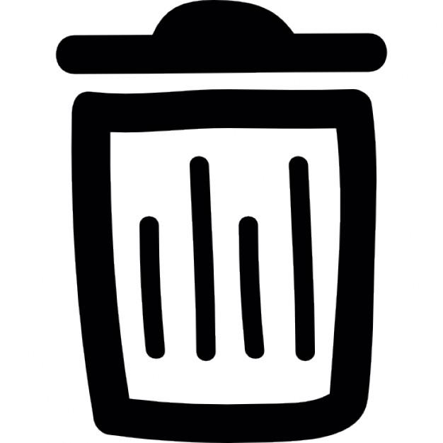 626x626 Trash Bin Doodle Outline Icons Free Download