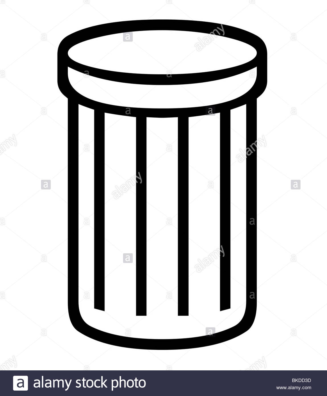 1148x1390 Trash Can Or Rubbish Bin Silhouette, Isolated On White Background