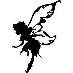 Garden Fairy Silhouette