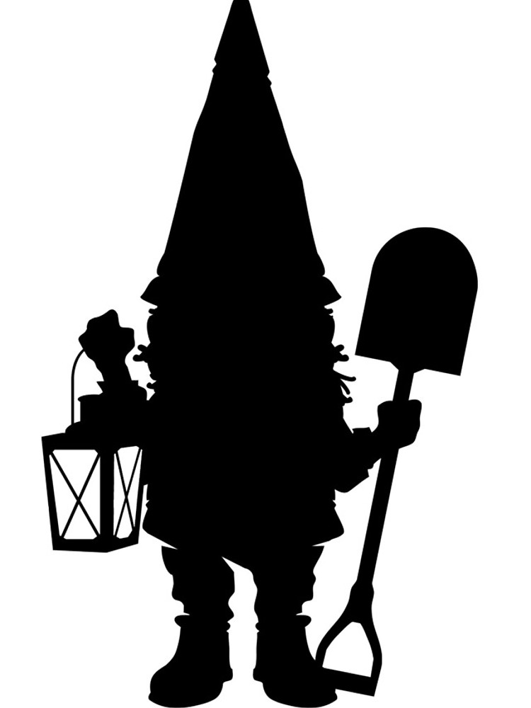 750x1000 Gnome In Silhouette Iphone Cases Amp Covers By Rodney Sloan