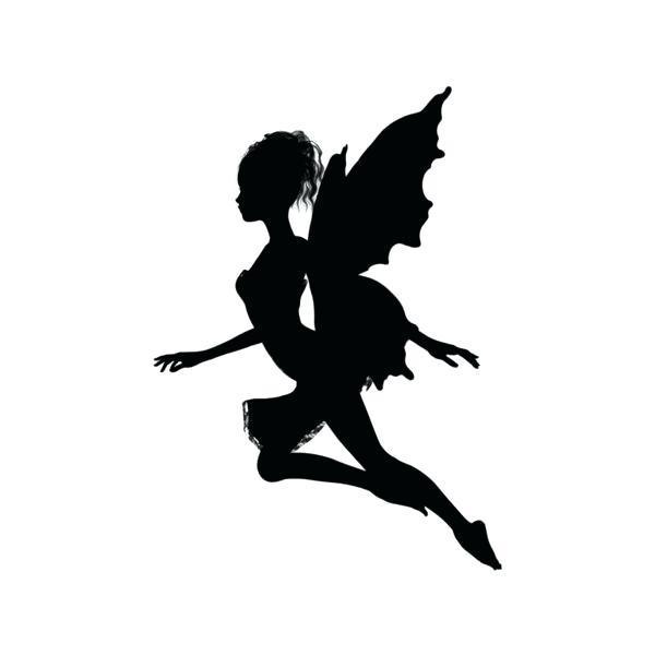 600x600 Fairy Silhouette Garden Gnomes Toadstools Die Cut Silhouette 6 X