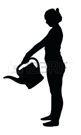270x450 Gardening Silhouette Vector Silhouette Of A Man With Garden Tools