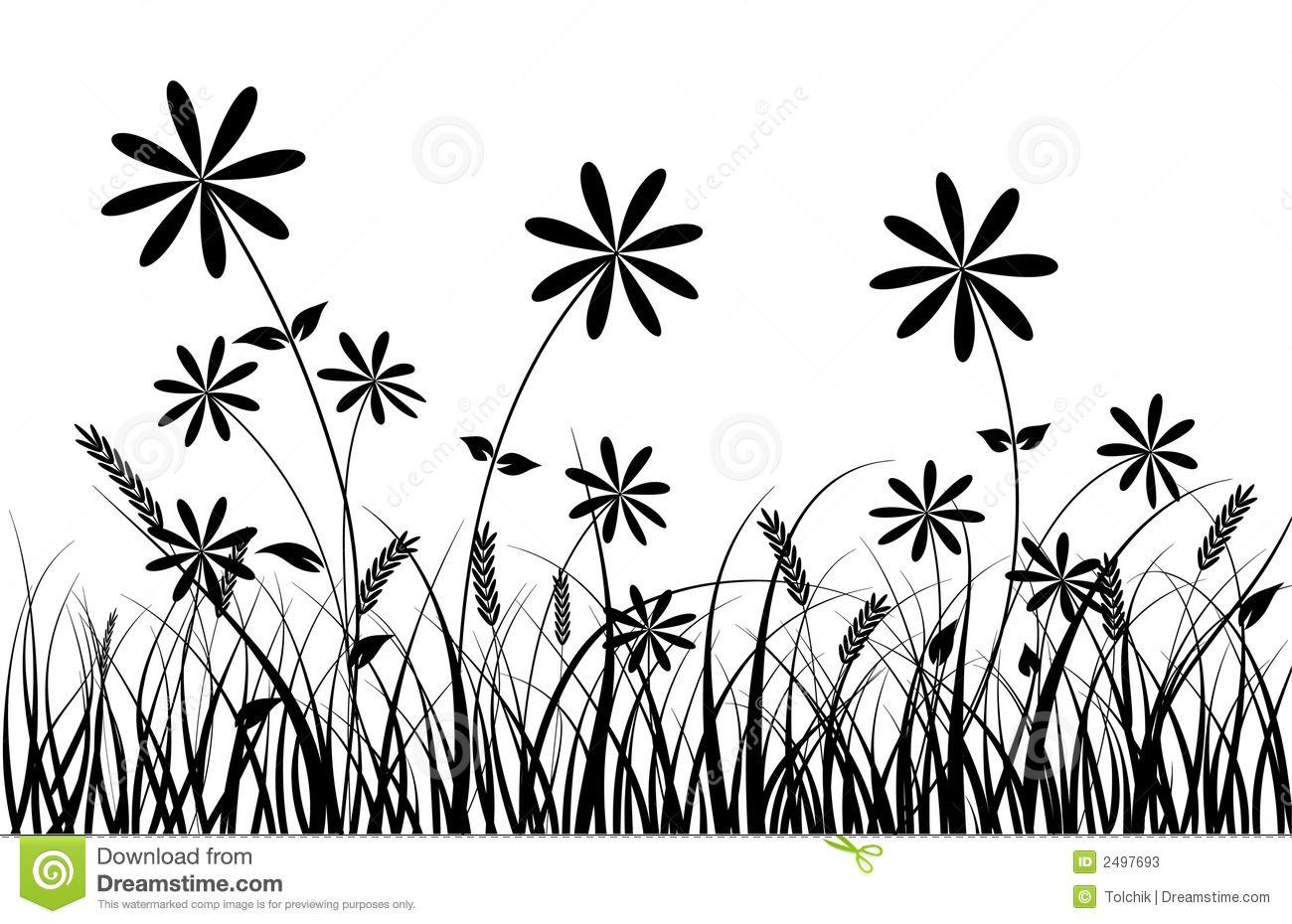 1300x930 Grass And Flower, Vector Stock Photos