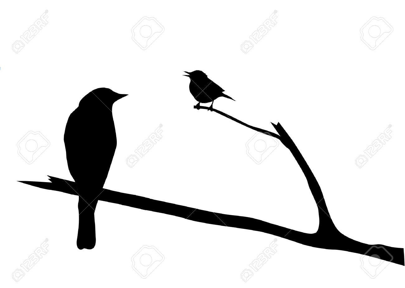 1300x925 Bird Silhouette Stock Vector Illustration And Royalty Free Bird