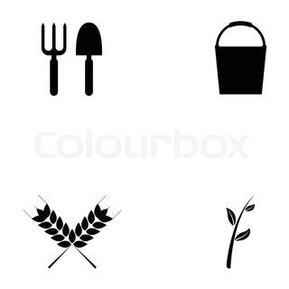 320x320 Garden Tools Silhouette
