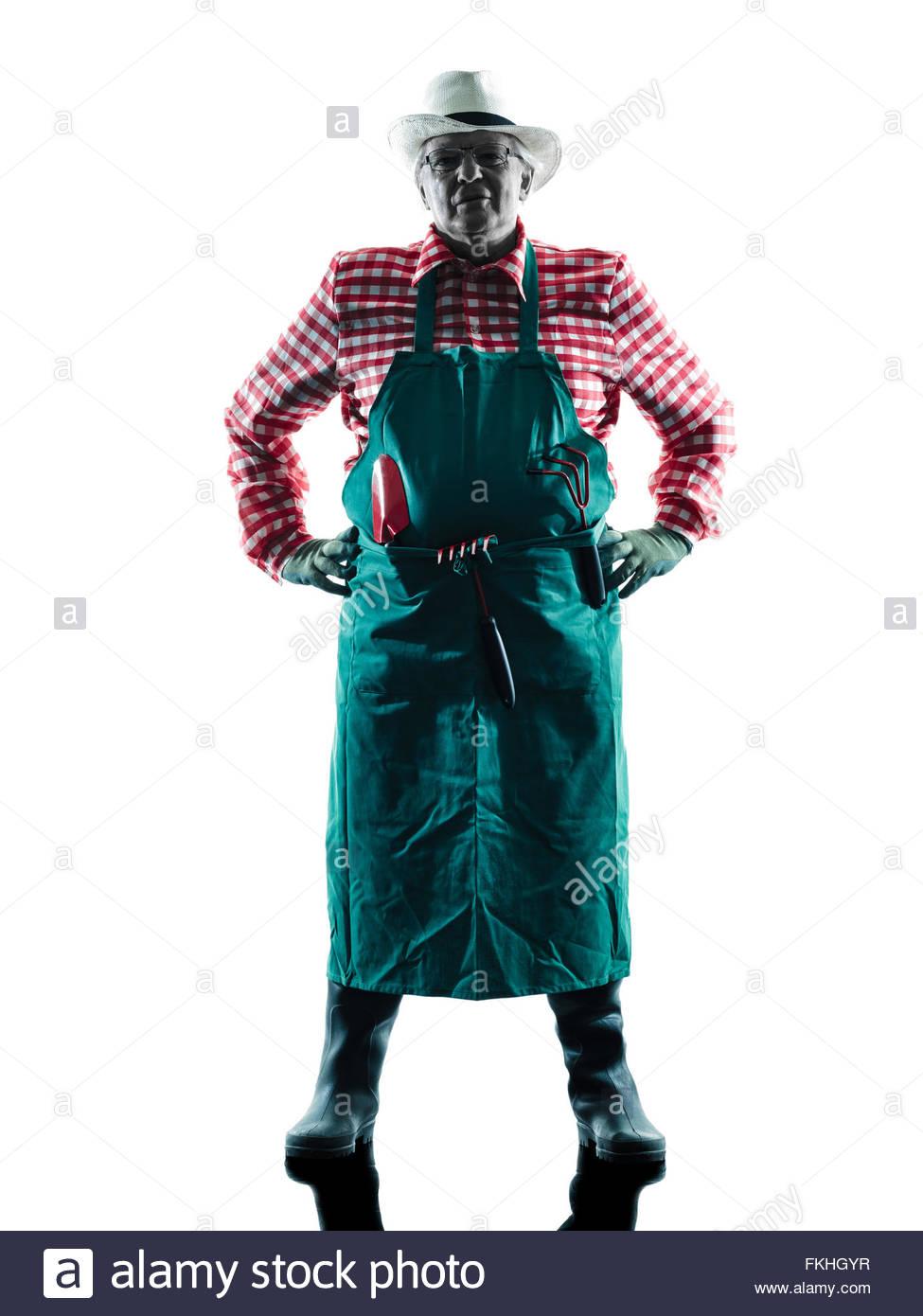 975x1390e Caucasian Man Gardener Man Gardening Silhouette Isolated