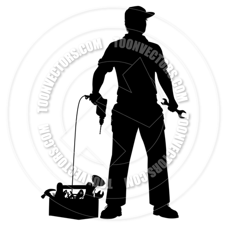 460x460 Emergency Repairman Silhouette By Tawng Toon Vectors Eps