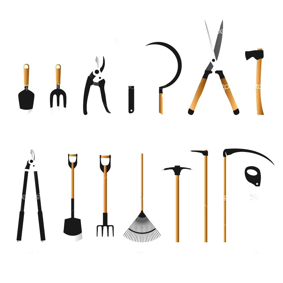 Gardening Tools Silhouette At Getdrawings Com Free For
