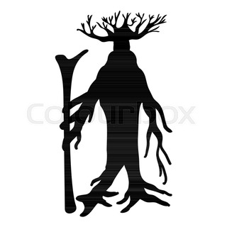 320x320 Gargoyle Silhouette Ancient Traditional Symbol. Vector