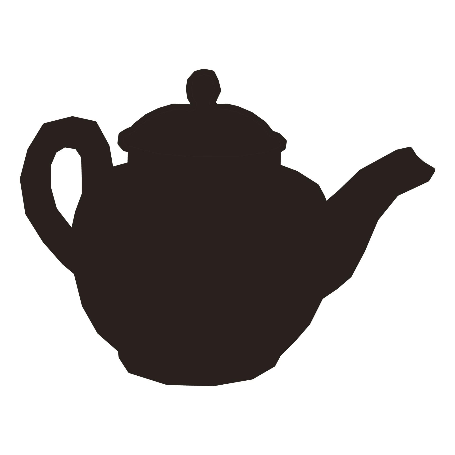 1920x1920 Teapot Silhouette Ii Free Stock Photo