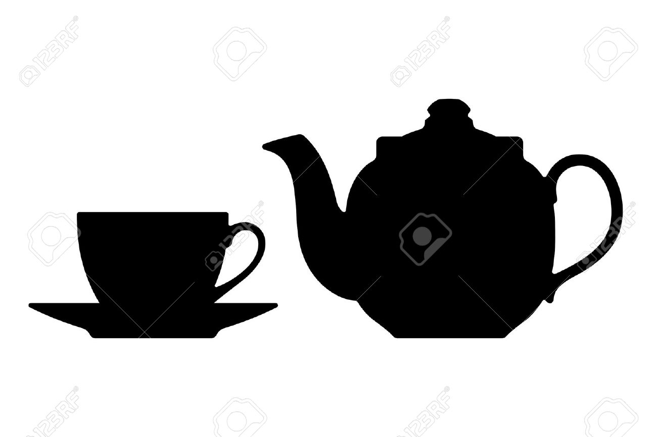 1300x866 Teapot Silhouette Clipart