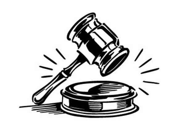 600x427 Clip Art Picture Judge's Gavel Silhouette On Judge Hammer Clip Art