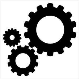 300x300 Gears Clipart Silhouette