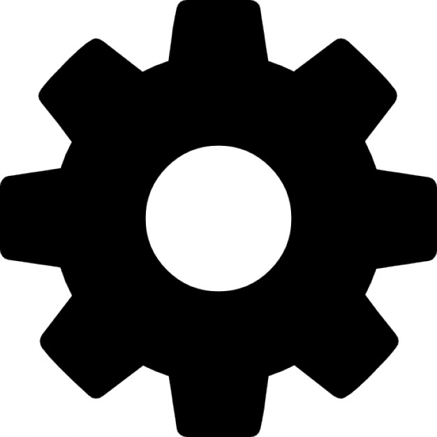 626x626 Cog Wheel Silhouette Icons Free Download