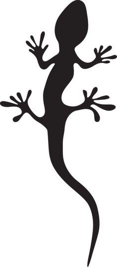 236x536 Gecko Silhouette Trumpet Clipart