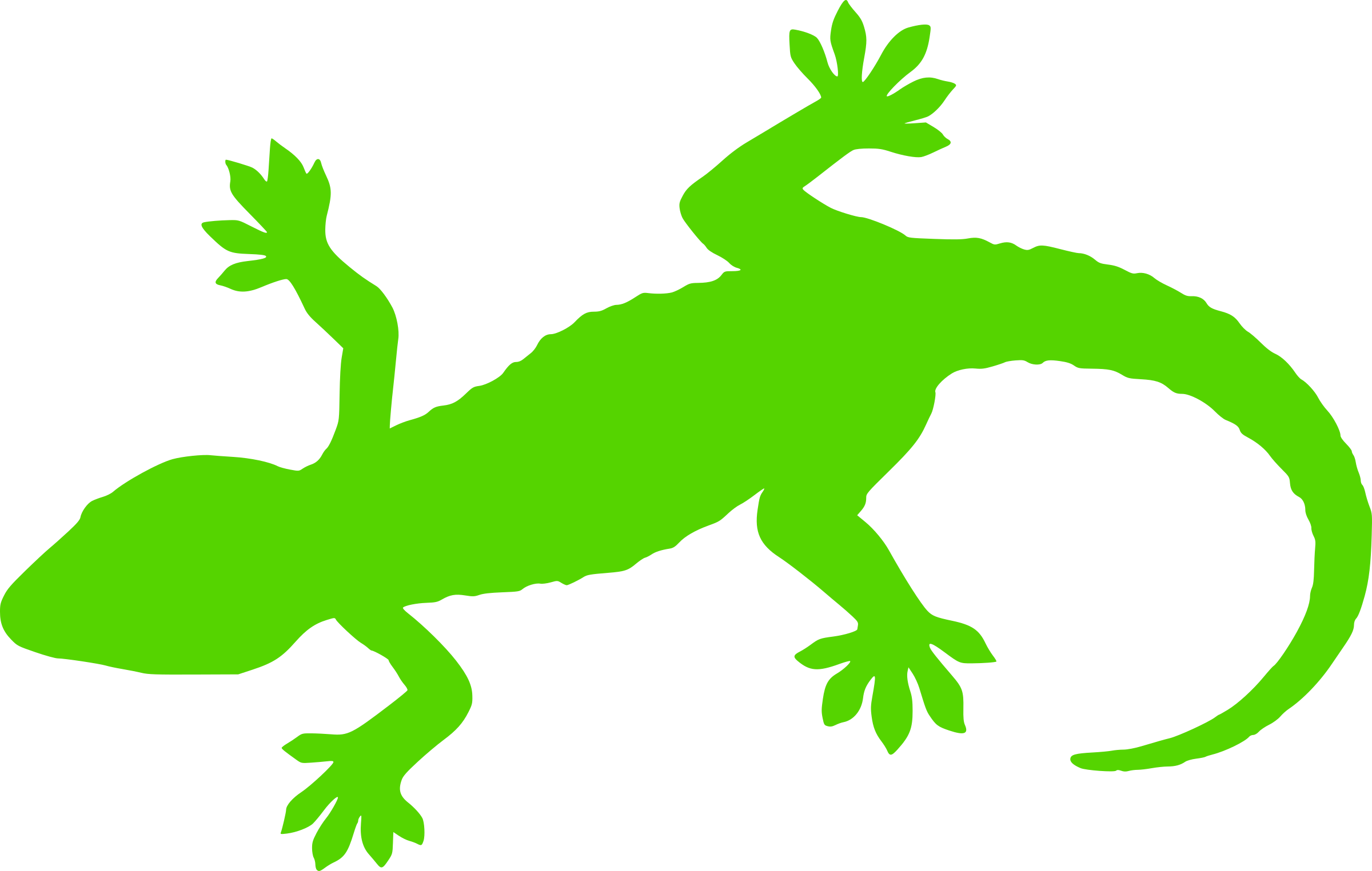 2400x1525 Green Gecko Silhouette Icons Png