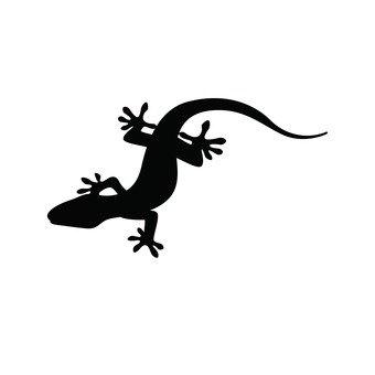 340x340 Free Silhouette Vector Reptiles, Icon, Newt
