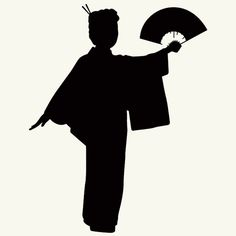 236x236 Japanese Geisha Girl Silhouette Wall Decal Vinyl Sticker Hd 102a