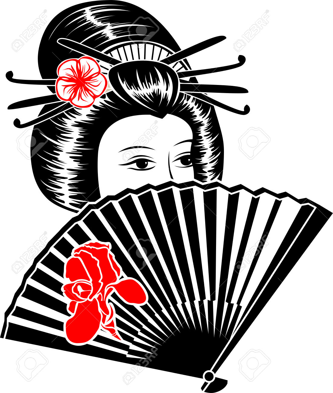1102x1300 Japanese Woman Reading Clipart Collection