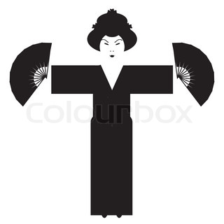320x320 Silhouettes Of Dancers Of Japanese Theatre Kabuki And Silhouettes