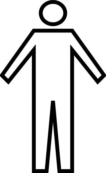366x598 Generic Man Symbol Clip Art