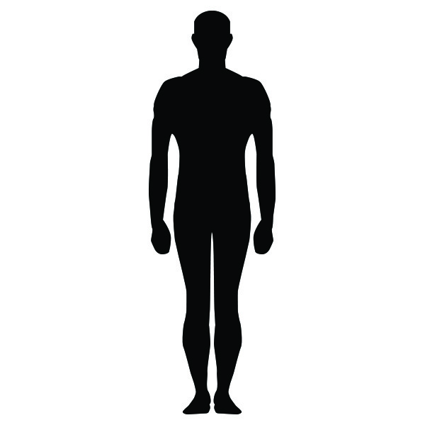 600x600 Free Vector Human Silhouette