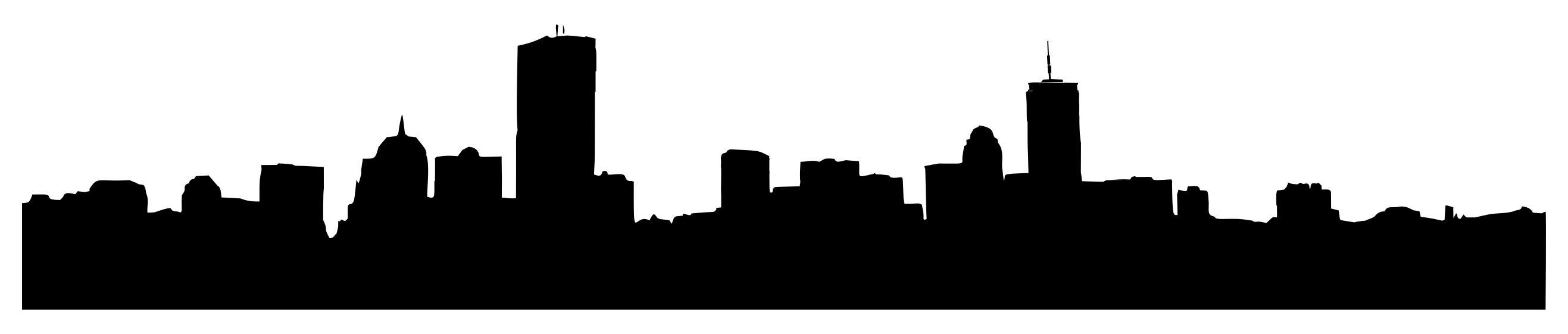 2634x561 Generic Cityscape Silhouette 4 Clipart
