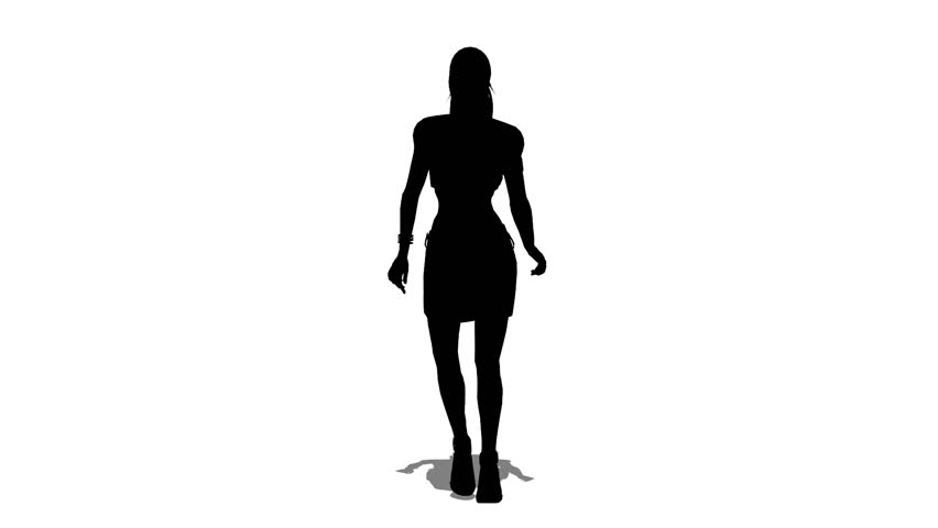 852x480 Silhouette Of Woman Stock Footage Video 6426938 Shutterstock
