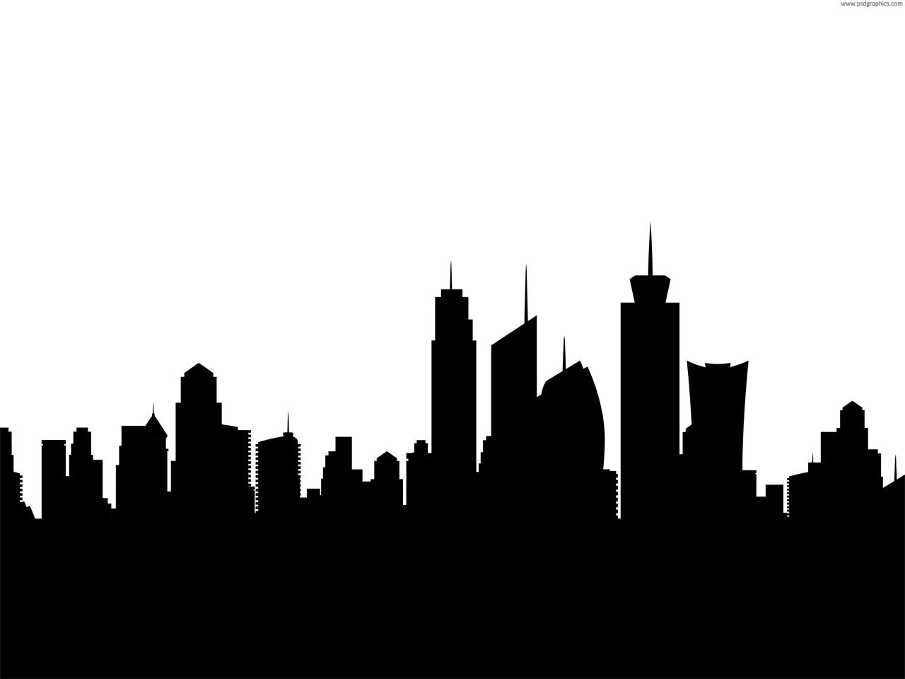 1280x960 City Skyline Silhouette Psdgraphics