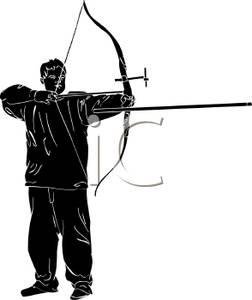 252x300 Archery Bow Silhouette