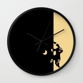 264x264 Umbreon Wall Clocks Society6