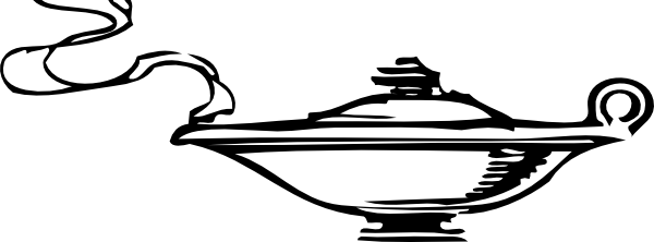 600x222 Genie In The Lamp Clip Art Free Vector 4vector