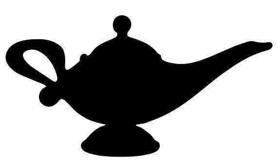 570x336 Genie Lamp Svg File For Vinyl Cutting From Soapboxdesignco
