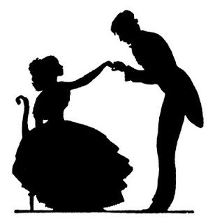 308x320 Vintage Couple Silhouette Things To Draw Couple