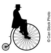 171x179 Gentleman Riding Cycle Silhouette Vector Illustration Vector