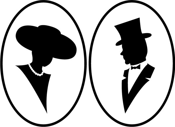 600x436 Bust Silhouette People Vector Free Vector Download