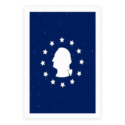 484x484 George Washington Silhouette Poster Lookhuman