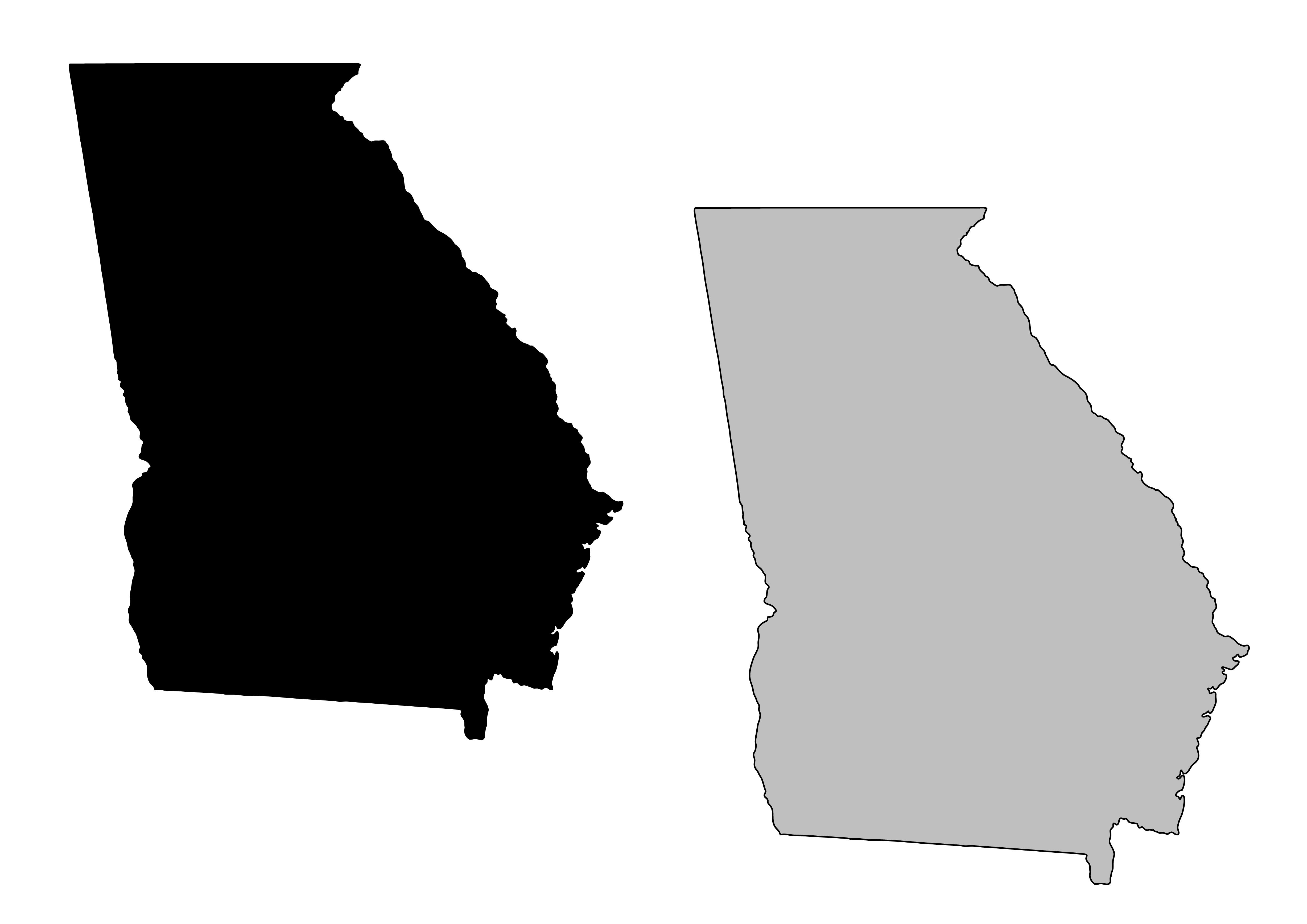 4911x3472 Georgia Map Clipart