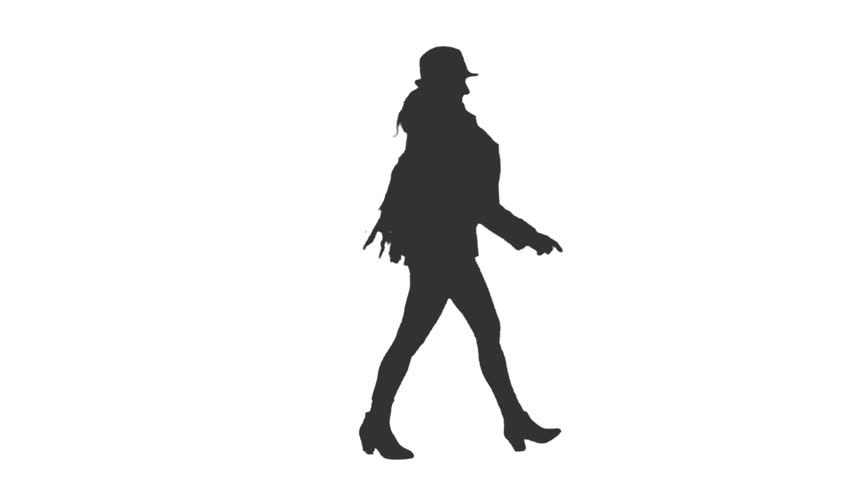 852x480 Silhouette Of A Man Dancing. Dancing Silhouette. Dances Of Georgia